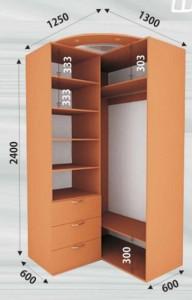 _90° угловой шкаф купе 2400мм